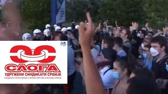 Blokada upozorenja magistralnog puta nezadovoljnih radnika preduzeća Simpo Šik u Kuršumliji 1