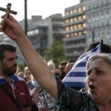 Suzavcem u Atini rasteran skup protivnika obaveznog vakcinisanja 4