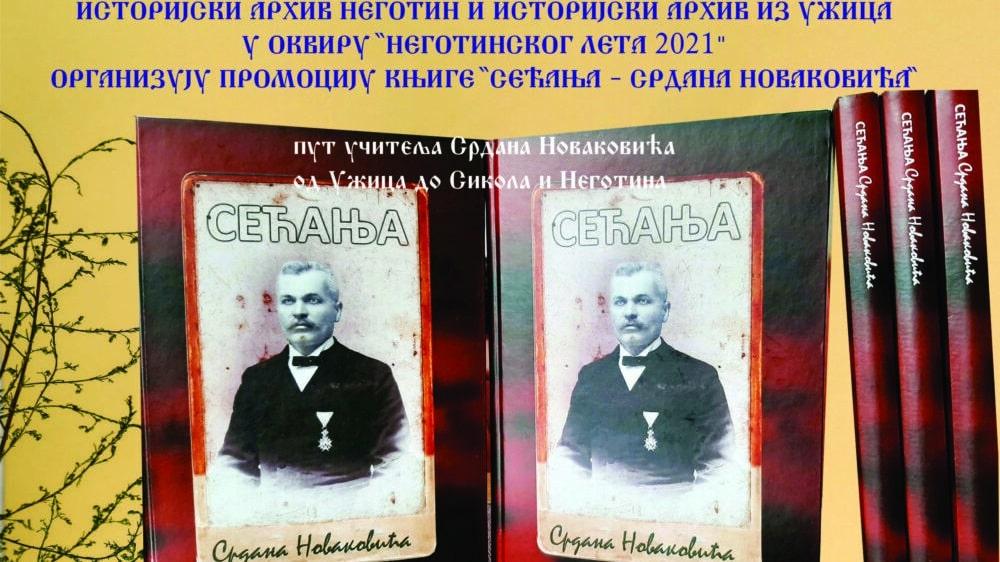 """Sećanja Srdana Novakovića"" večeras u Istorijskom arhivu u Negotinu 1"