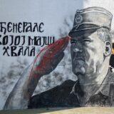 Ruka Ratka Mladića na muralu u Beogradu ofarbana crvenom bojom 8