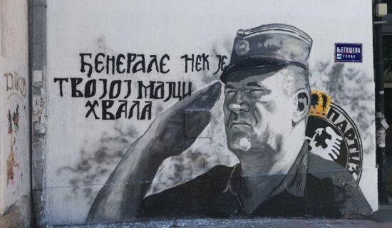 Mural Mladiću već tri meseca u centru Beograda, komunalna inspekcija ne reaguje 13
