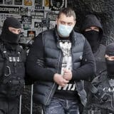 Stadion Partizan, policija hapsenje Velja Nevolja Veljko Belivuk 4.2.2021.