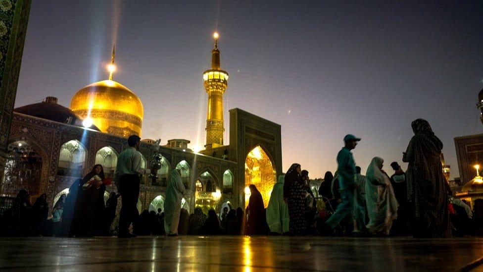 The shrine of the Shia Imam Reza in Mashhad, Iran (2013)