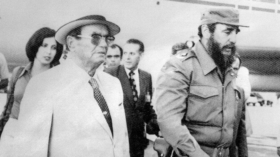 Tito i Kastro u Havani 1979. godine