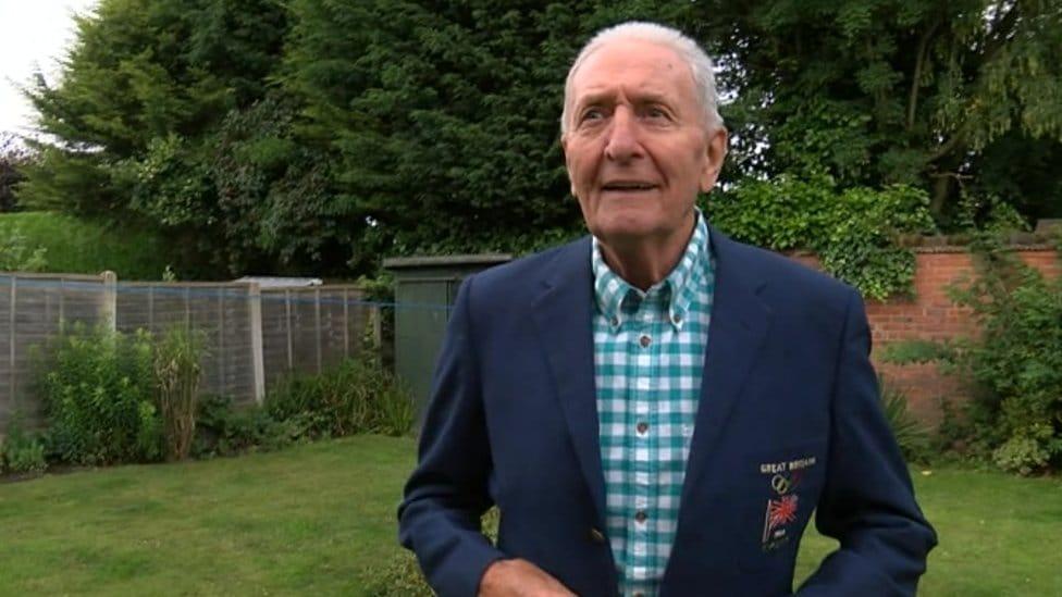 Mr Porter in his 1964 Olympics blazer