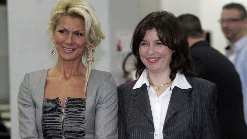 Svetlana Kitić i šahistkinja Alisa Marić