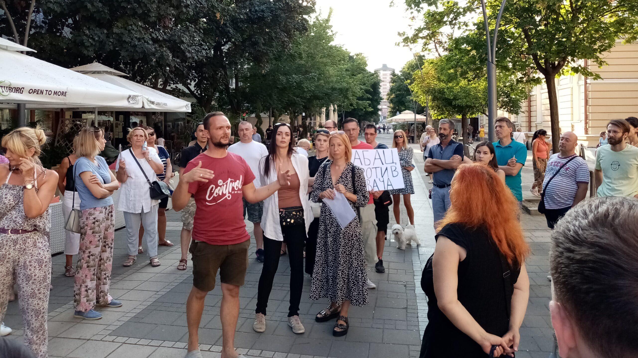 Protest protiv aerozagađenja u Šapcu: Građani osećaju - merenja nema 1