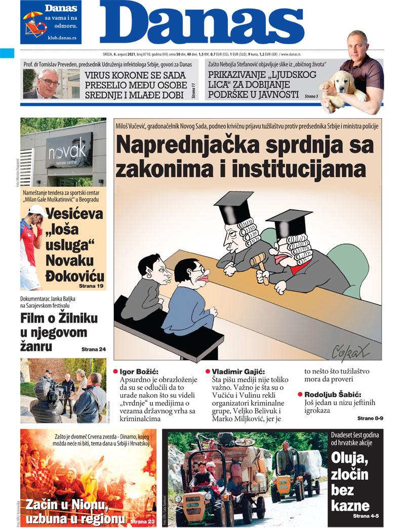 Naslovna za 4. avgust 2021. 1