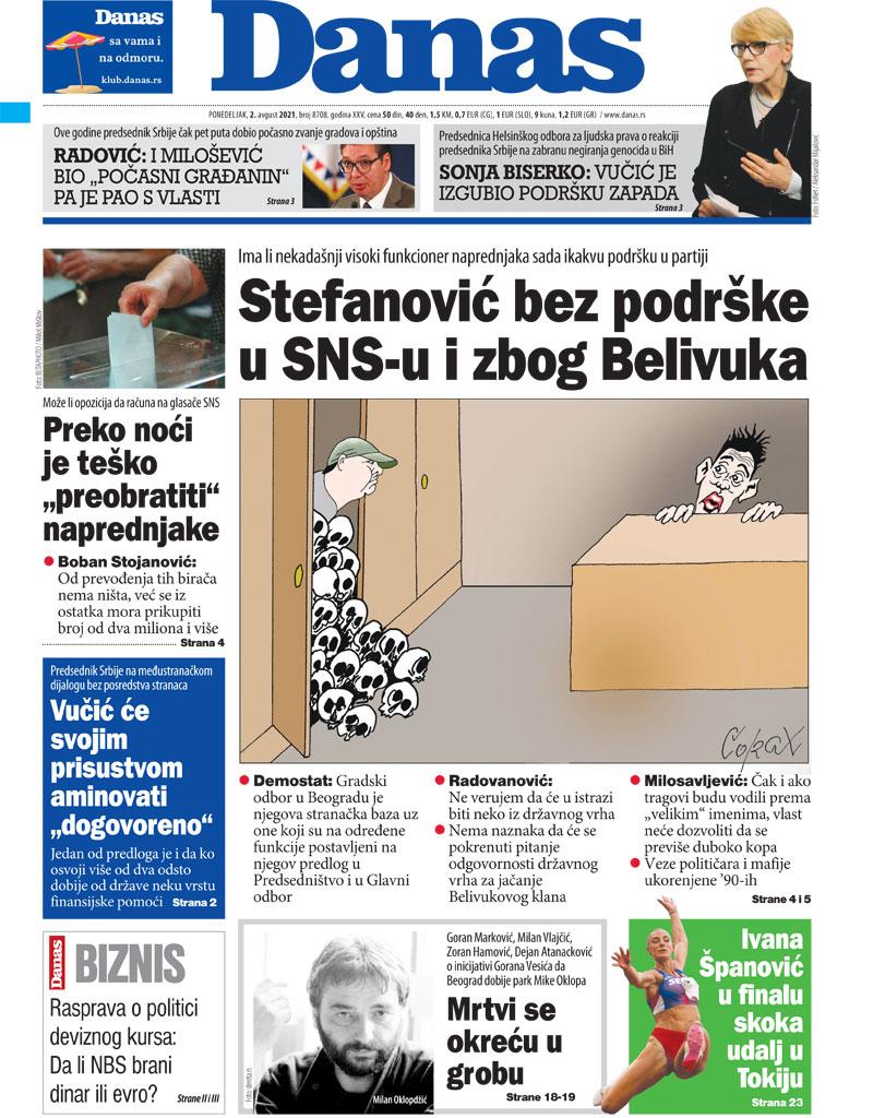 Naslovna za 2. avgust 2021. 1