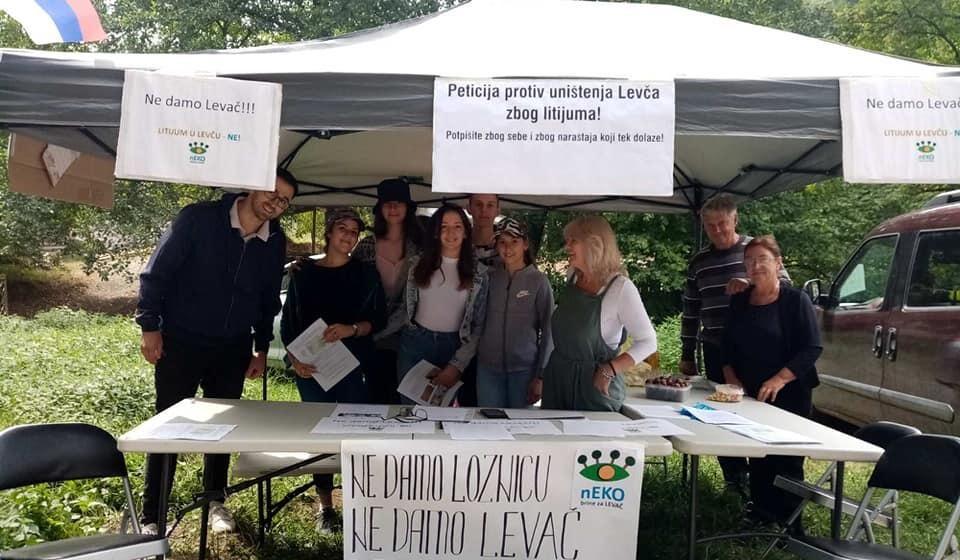 Protest u Rekovcu protiv istraživanja litijuma 1