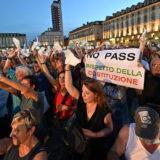 Italija: Protesti zbog kovid-propusnica 2