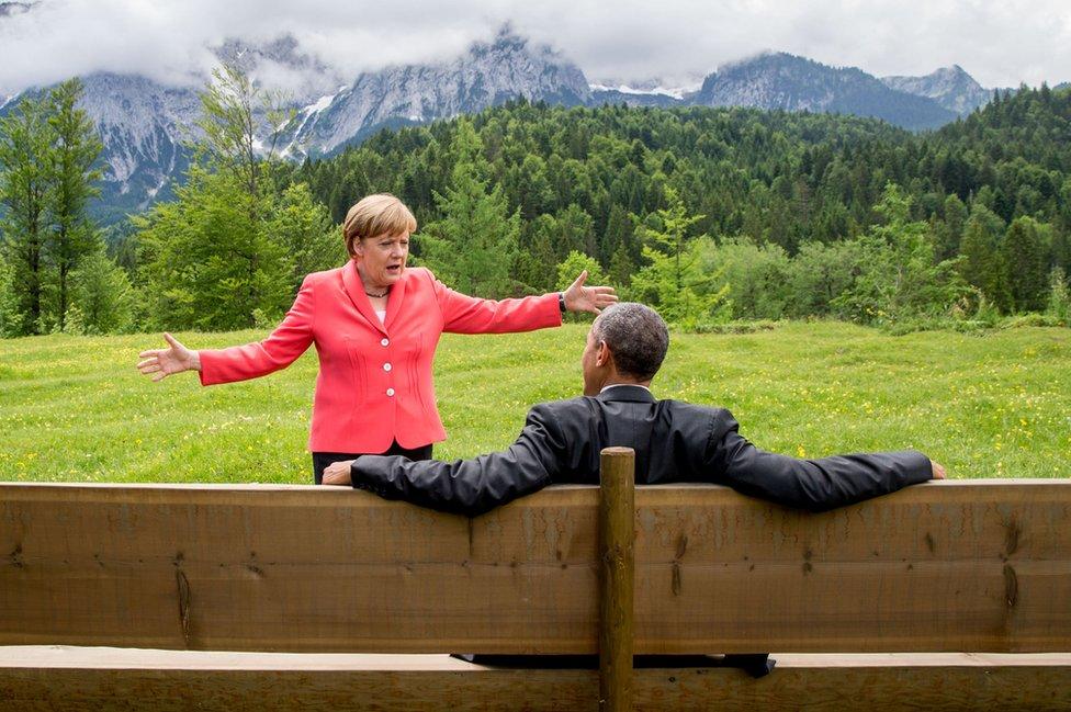 Angela Merkel u razgovoru sa Obamom