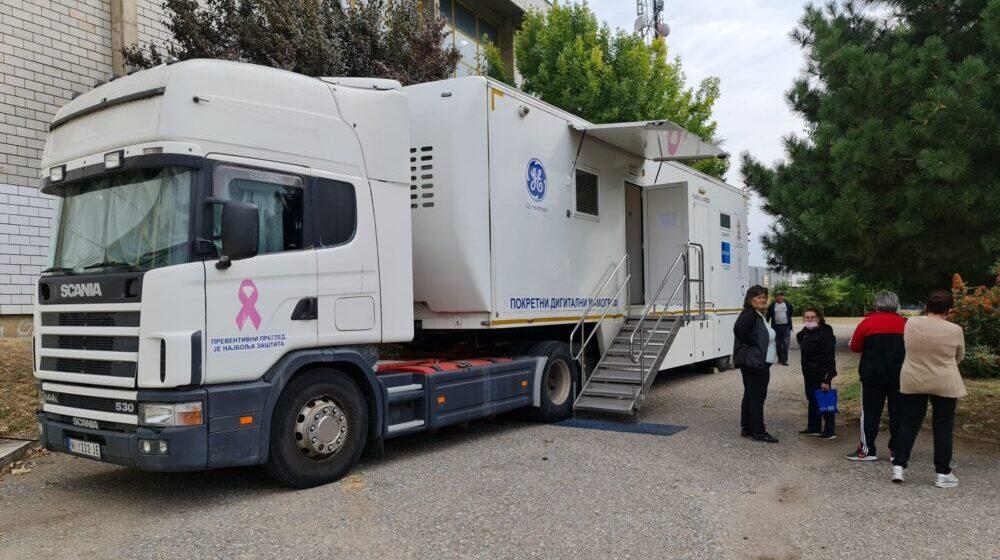 U Vranju zakazano 114 pregleda dojke na mobilnom Digitalnom mamografu 1
