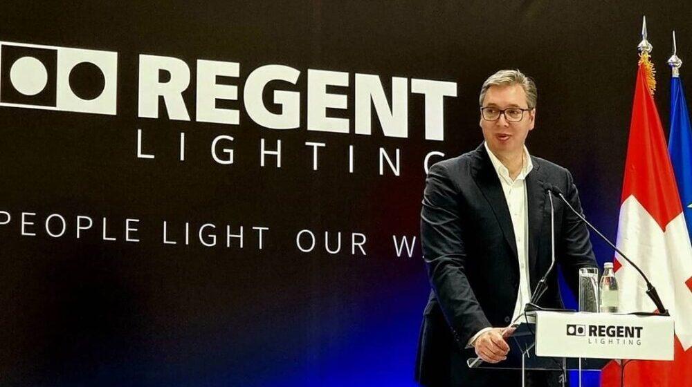 Vučić otvorio fabriku švajcarske kompanije Regent lajtning u Svilajncu 1