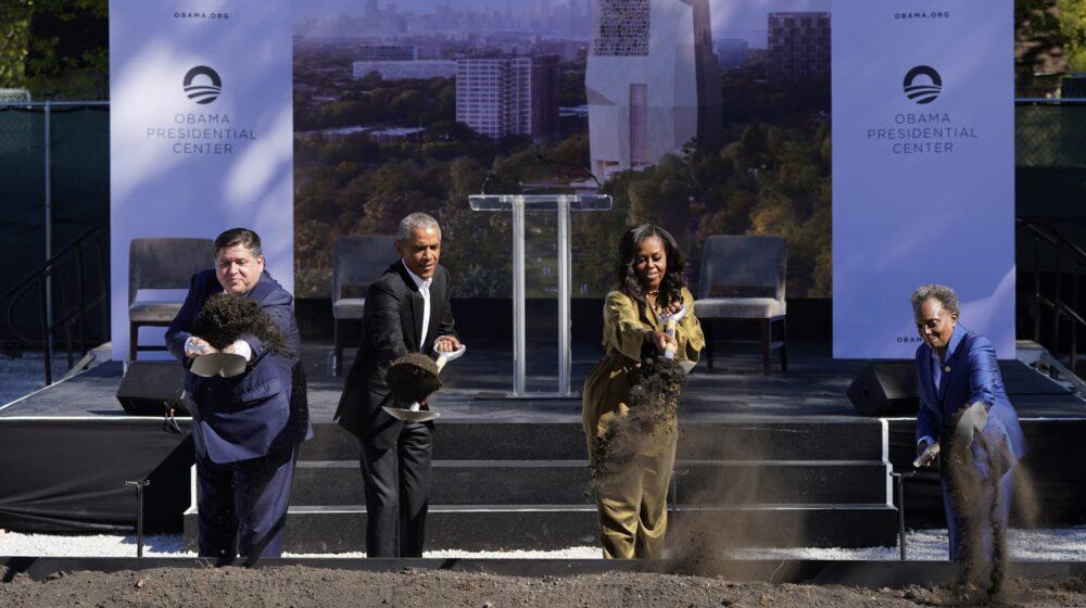 Barak Obama postavio kamen temeljac za svoj budući predsednički centar u Čikagu 1