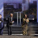 Barak Obama postavio kamen temeljac za svoj budući predsednički centar u Čikagu 12