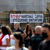 Nekoliko desetina medicinskih sestara i tehničara protestovalo u centru Zagreba zbog kovid potvrda 5