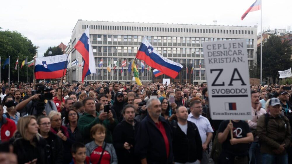 U Ljubljani novi protest protiv kovid potvrda i vakcinacije 1