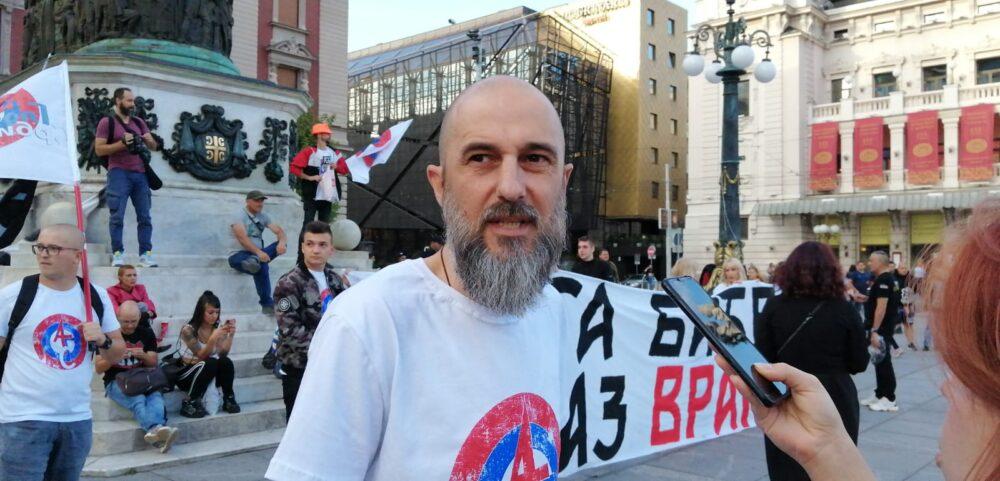 Antiglobalistički skup u Beogradu: Protiv prisilne vakcinacije i propusnica 3