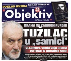 Vukčević o pisanju da je izbačen iz bolničke sobe: Najgnusnije laži 2