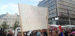 Antiglobalistički skup u Beogradu: Protiv prisilne vakcinacije i propusnica 13