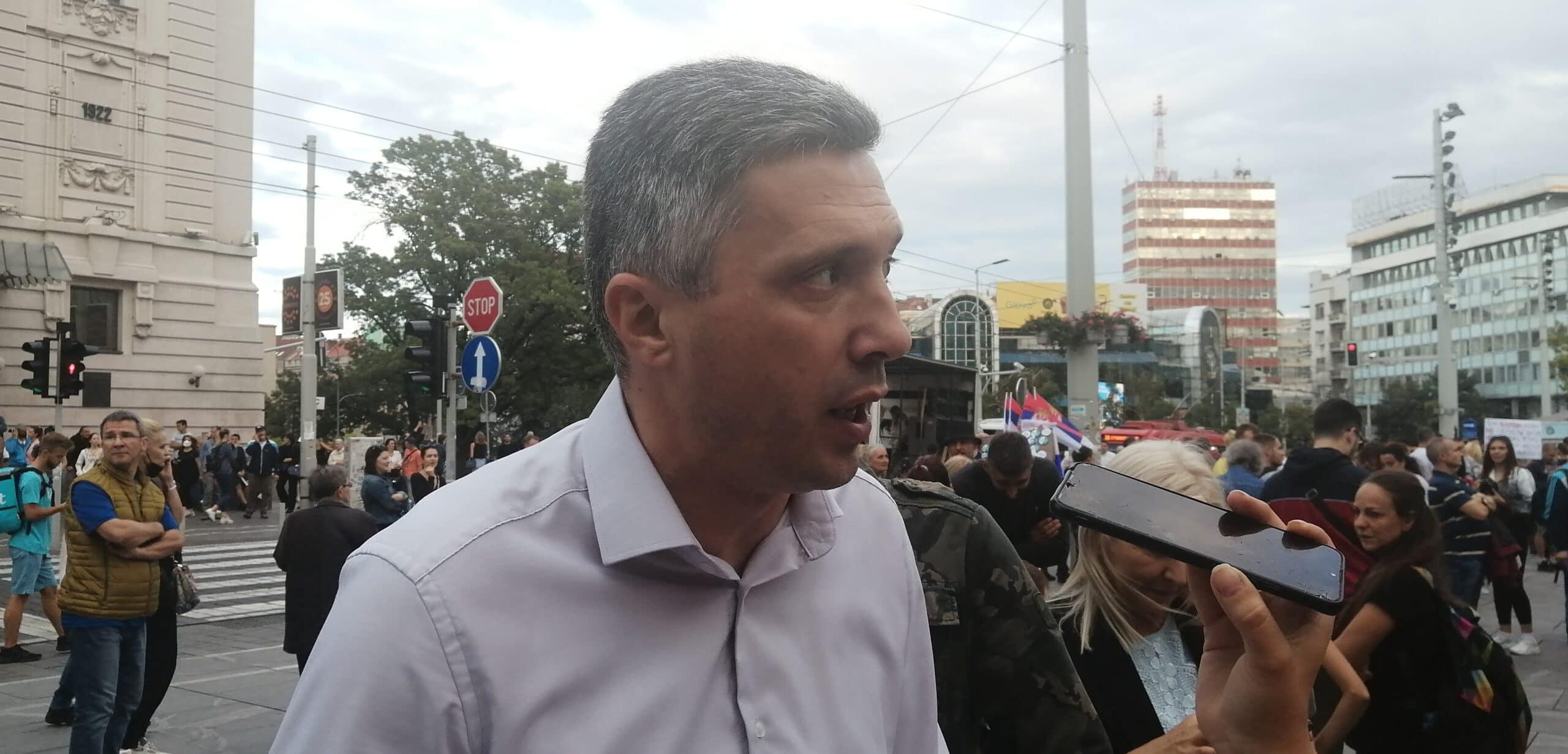 Antiglobalistički skup u Beogradu: Protiv prisilne vakcinacije i propusnica 2
