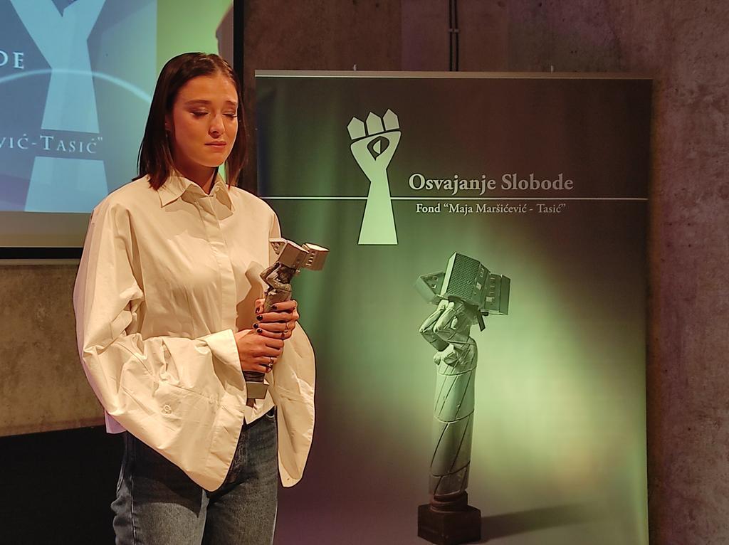 """Glumica Milena Radulović dobitnica nagrade """"Osvajanje slobode"""" (FOTO/VIDEO) 2"""