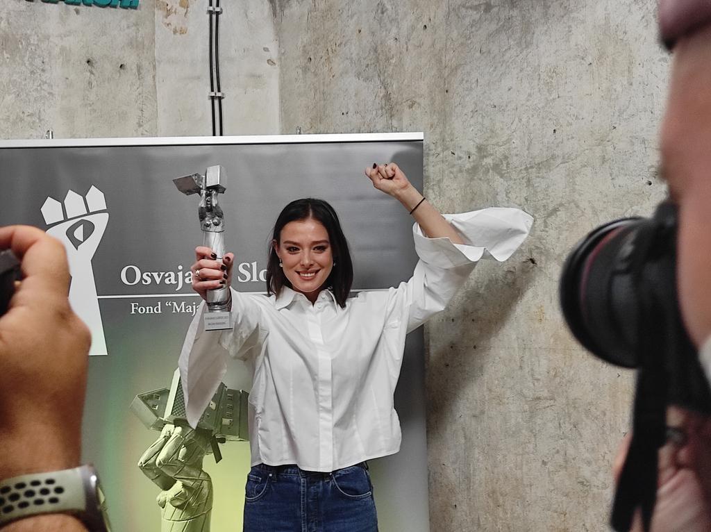 """Glumica Milena Radulović dobitnica nagrade """"Osvajanje slobode"""" (FOTO/VIDEO) 3"""
