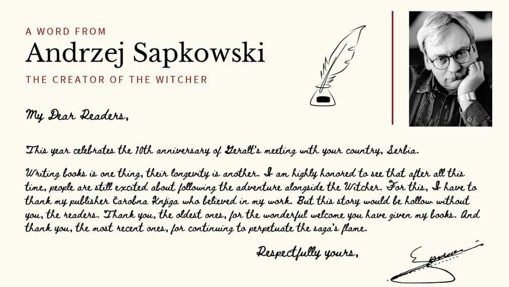 Rođendanska poruka Andžeja Sapkovskog 1