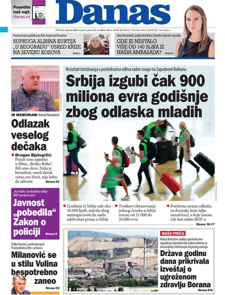 Naslovna za 24. septembar 2021. 1