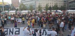 Antiglobalistički skup u Beogradu: Protiv prisilne vakcinacije i propusnica 17