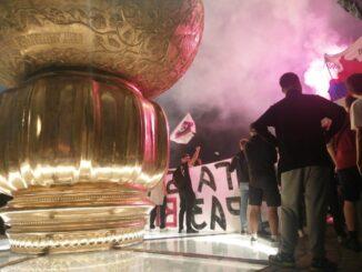 Antiglobalistički skup u Beogradu: Protiv prisilne vakcinacije i propusnica 32