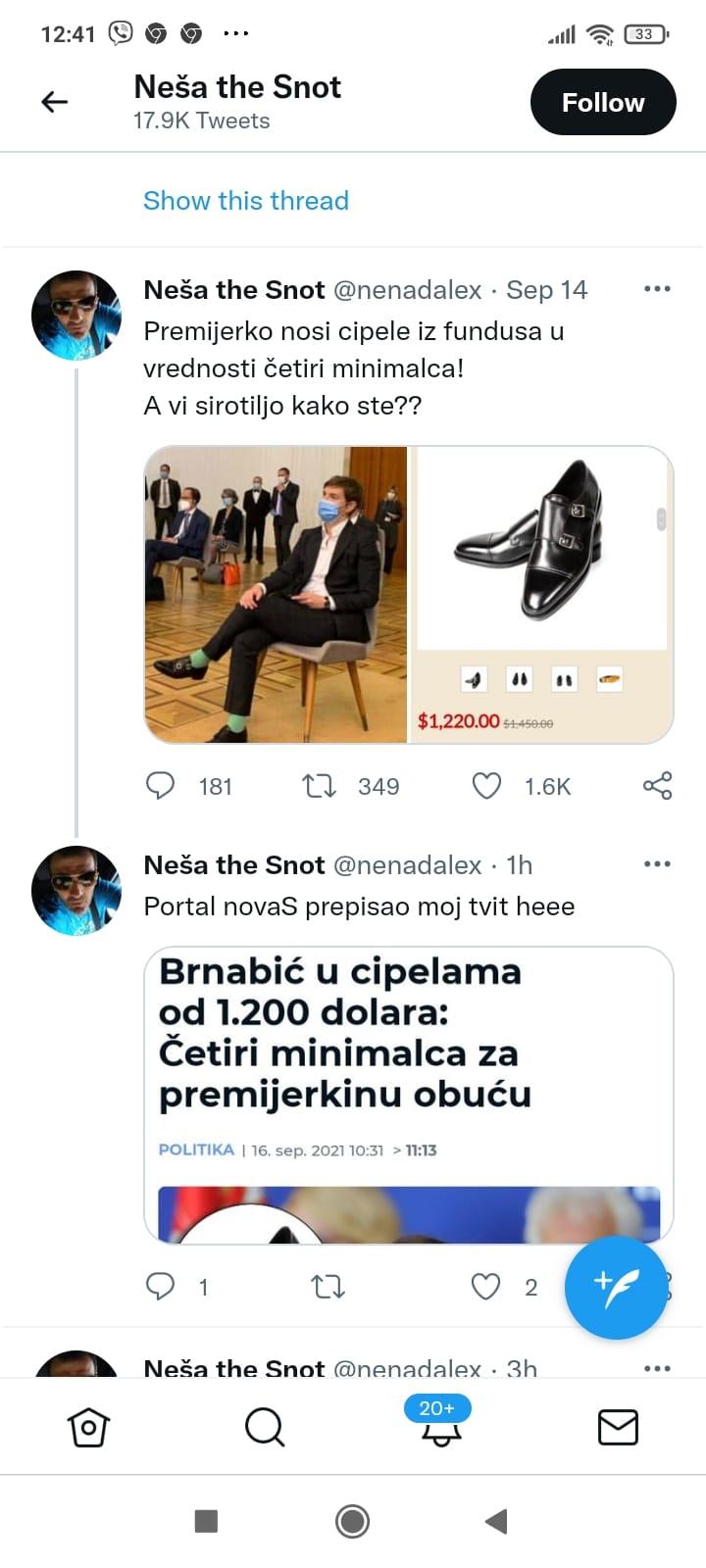 """Odakle Ani Brnabić """"tričavih"""" 1.200 dolara za cipele? 2"""