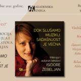 Promocija knjige Isidore Žebeljan u subotu, 25. septembra na Kolarcu 1