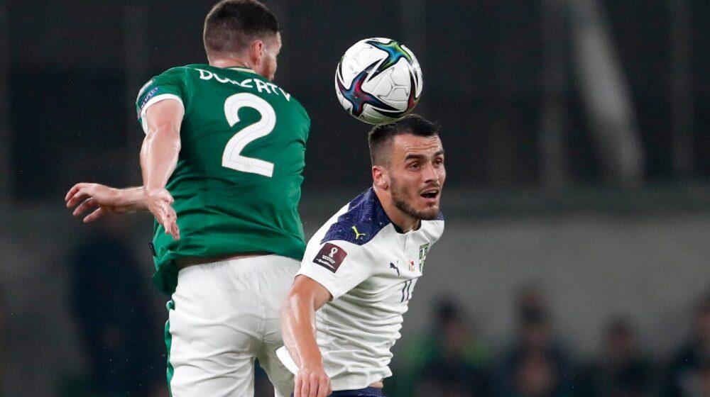 Srbija autogolom u 87. minutu ostala bez pobede u Irskoj 1