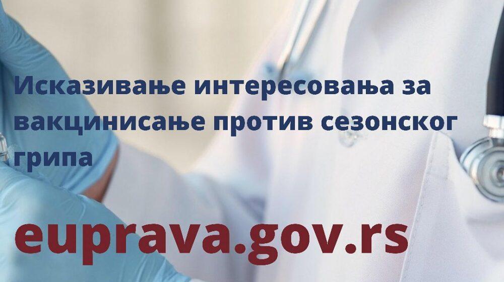Na Portalu eUprava od danas moguće iskazivanje interesovanja za vakcinisanje protiv sezonskog gripa 1