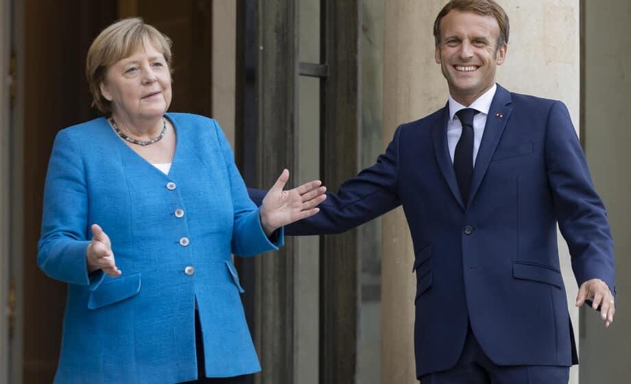 Makron primio Angelu Merkel u oproštajnu posetu Francuskoj 1