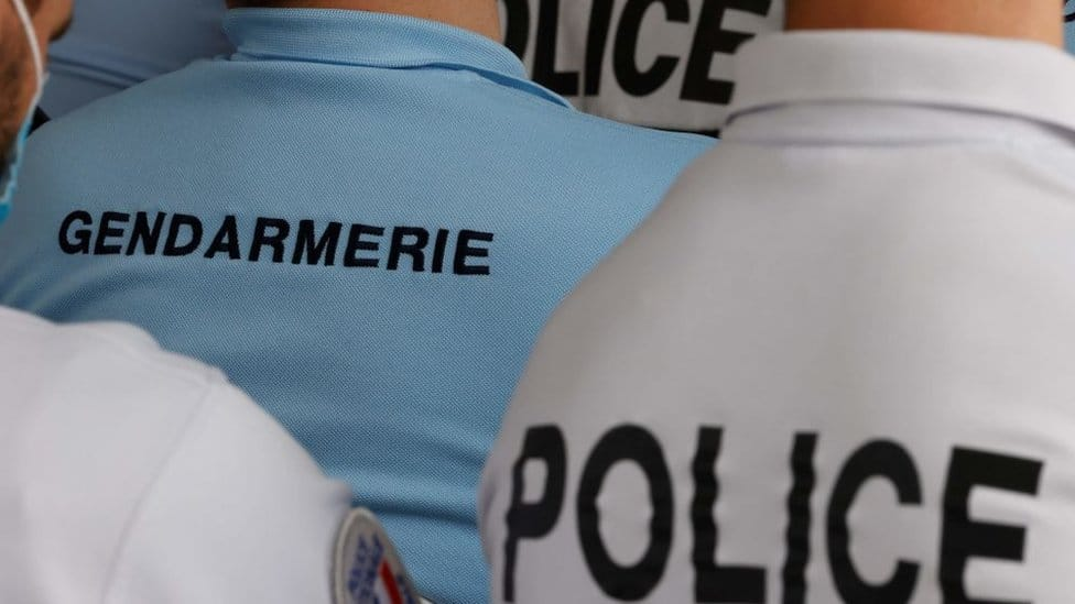 File pic of gendarmes and police
