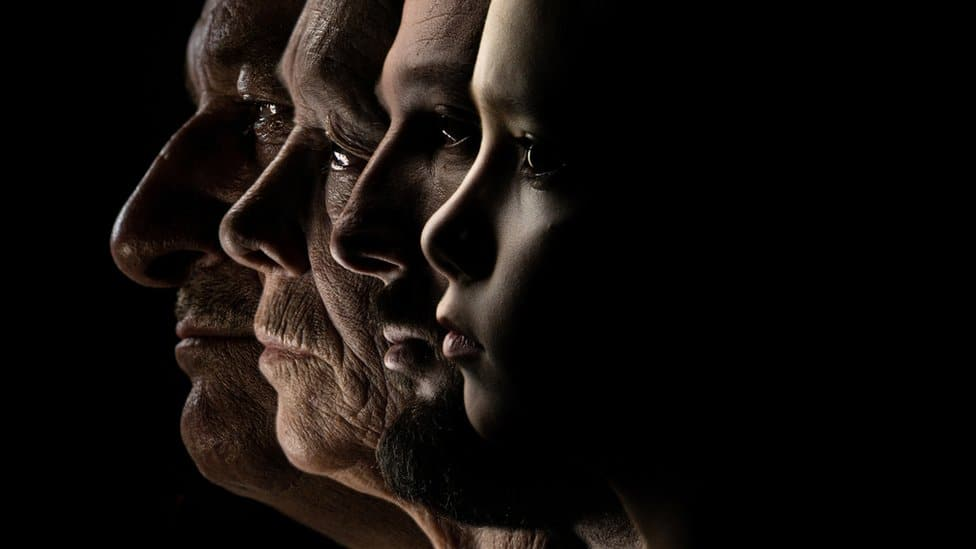 Four faces of different ages