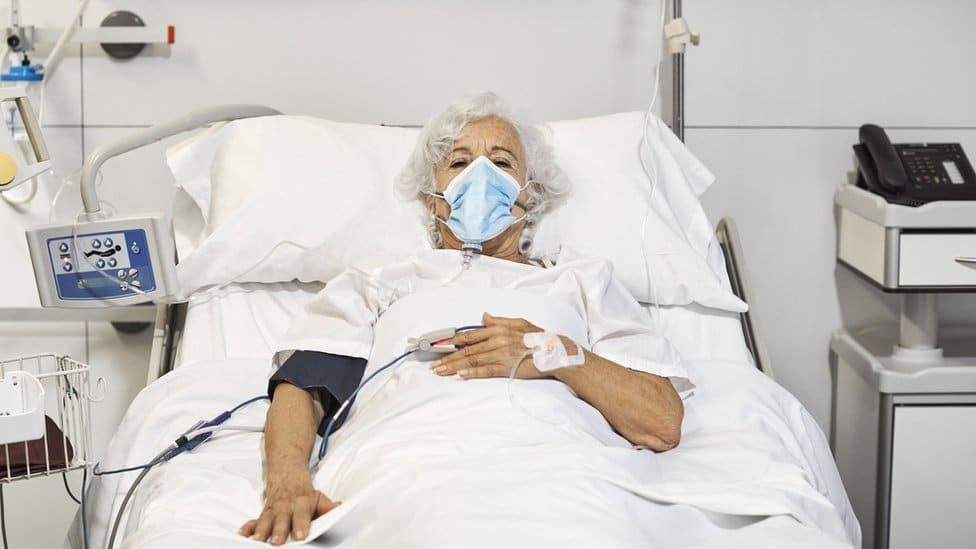 A sick woman