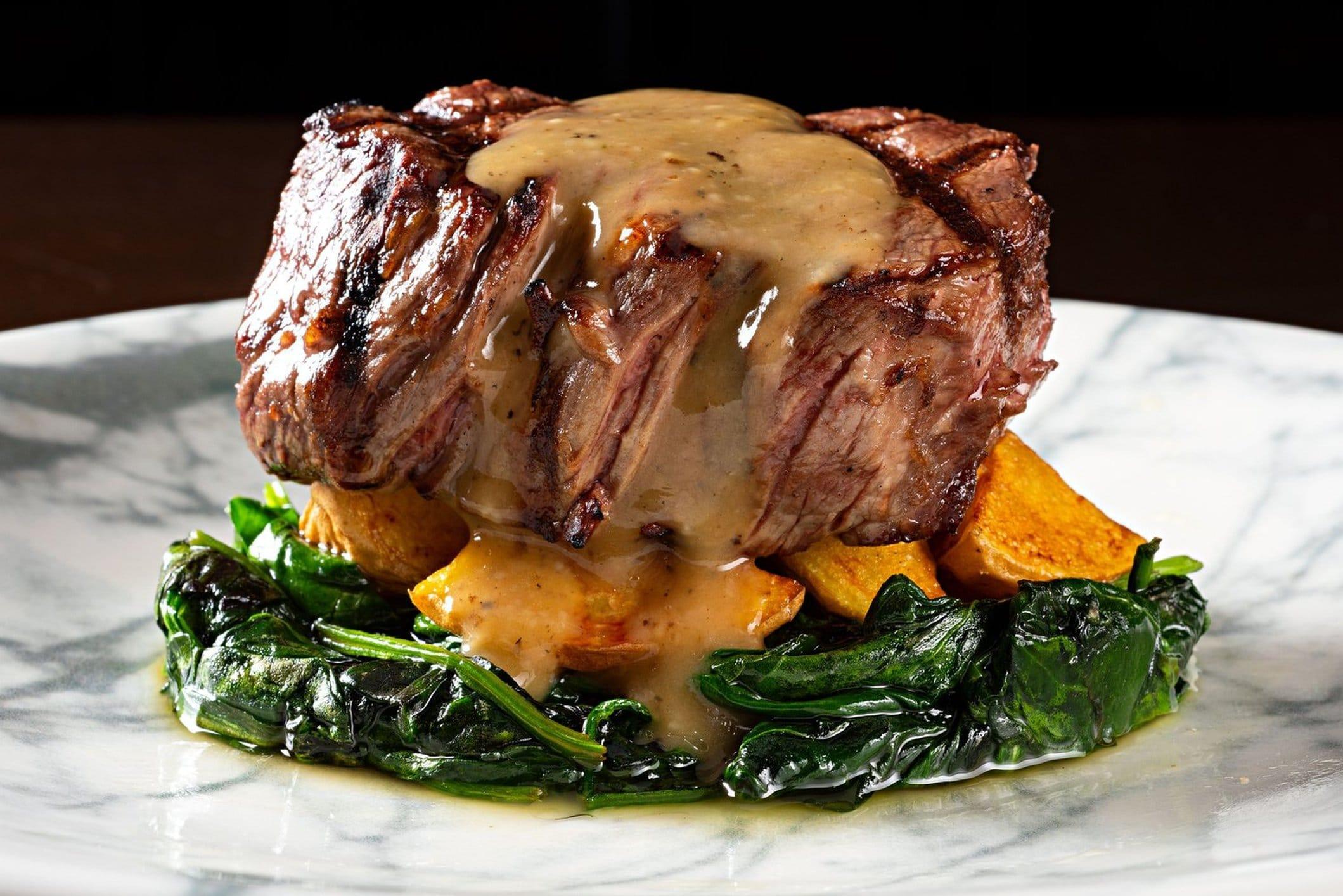 A fillet steak on a plate