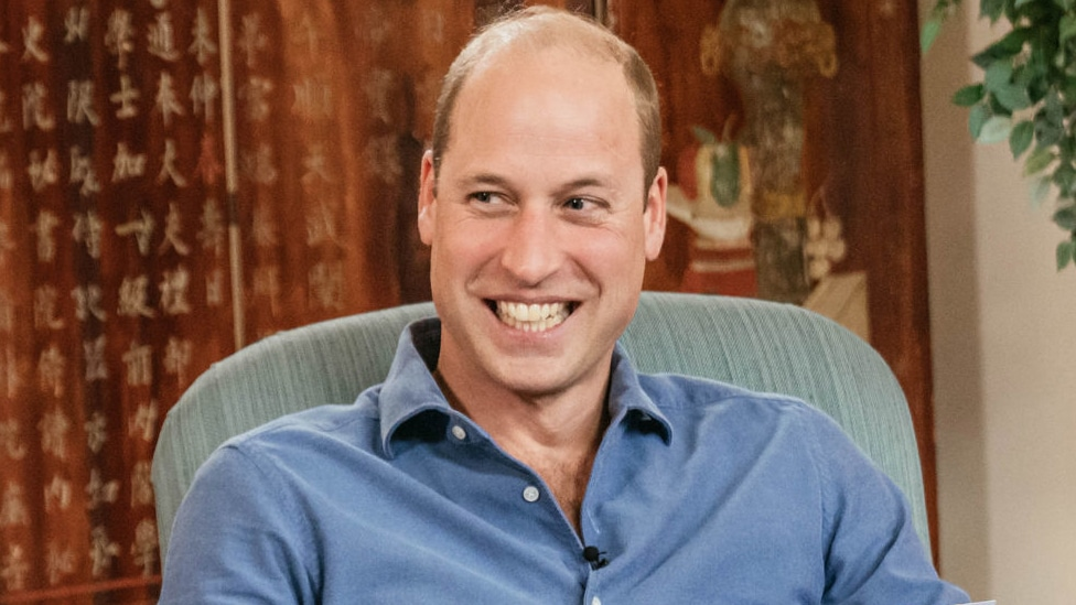 Undated handout photo issued by Kensington Palace of the Duke of Cambridge with Adam Fleming recording an appearance on BBC Newscast at Kensington Palace, London