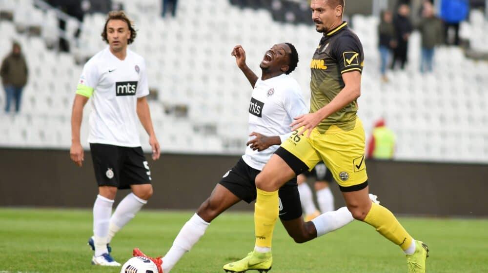 Partizan u osmini finala Kupa Srbije, Menig dvostruki strelac 1